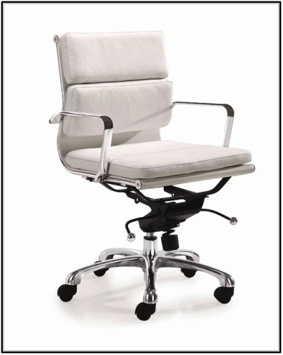 White Leather Ikea Office Chair Chairs Home Design