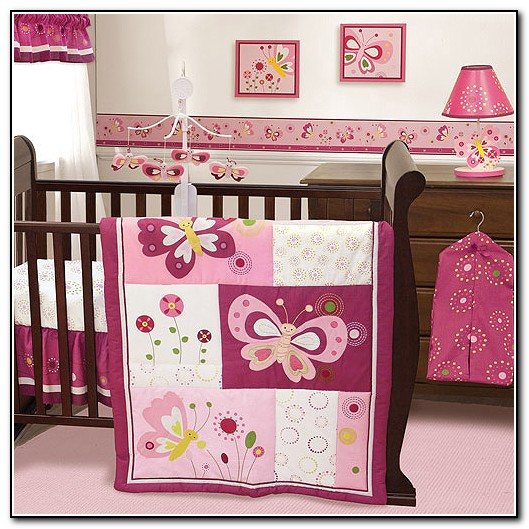 Baby girl crib bedding butterflies beds home design for Baby girl butterfly bedroom ideas