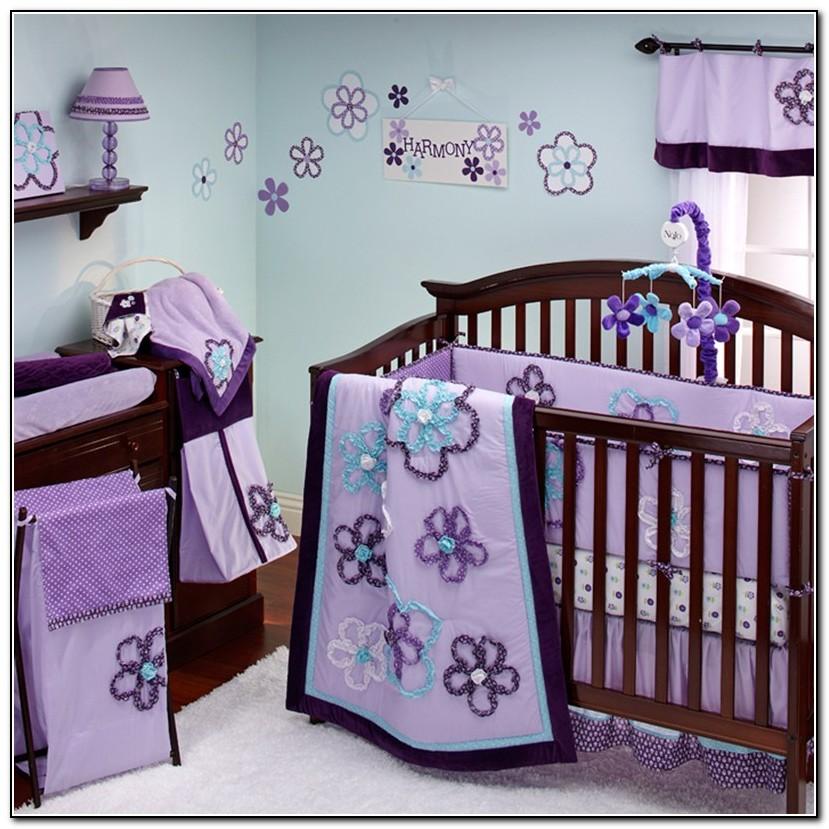 Baby Girl Crib Bedding Purple Beds Home Design Ideas