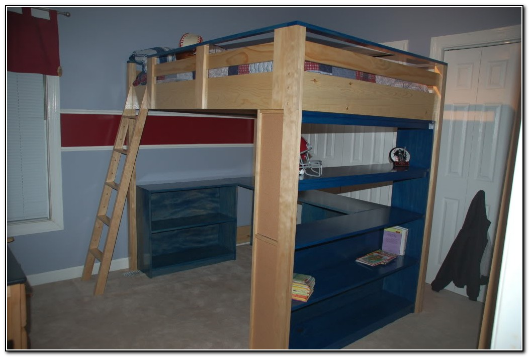 Bunk Bed With Desk Plans