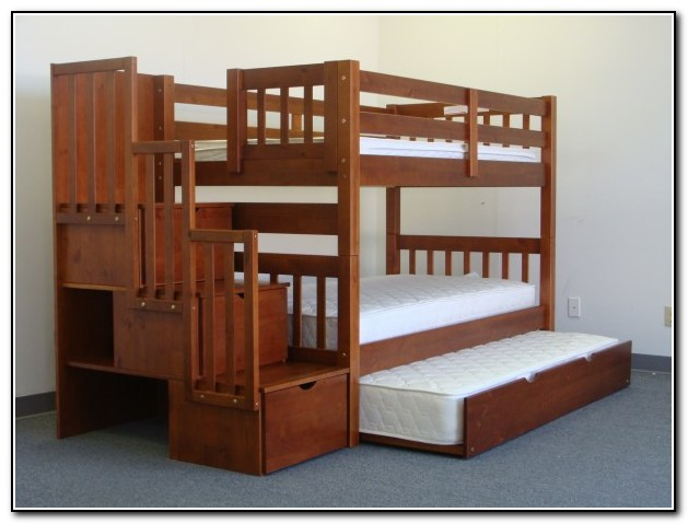 Bunk Beds With Stairs And Trundle