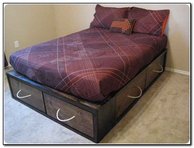 Full Size Bed Frame With Storage Beds Home Design