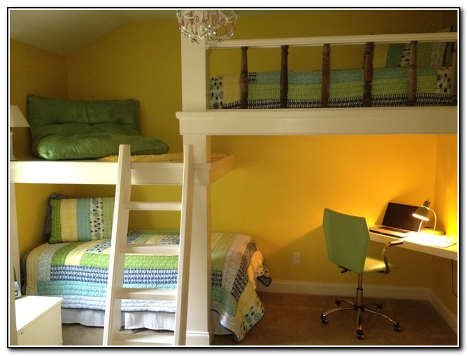 Kids Bunk Beds With Desk Underneath Beds Home Design Ideas