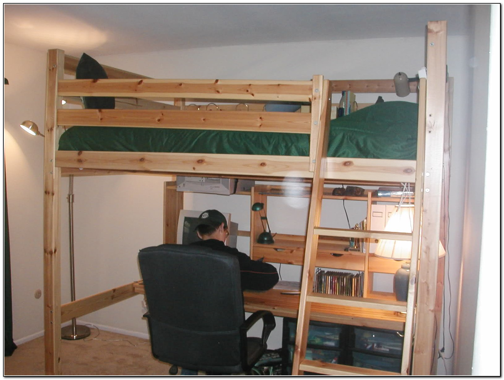 Loft Bed With Desk Ikea Beds Home Design Ideas