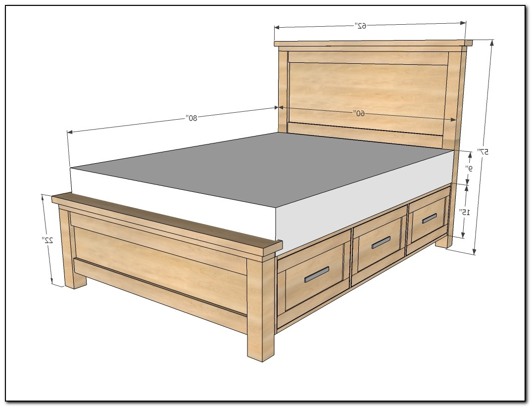 queen bed frame with drawers plans download page home