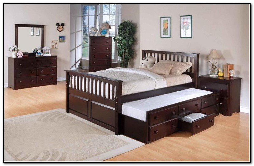 Queen Size Bed With Trundle