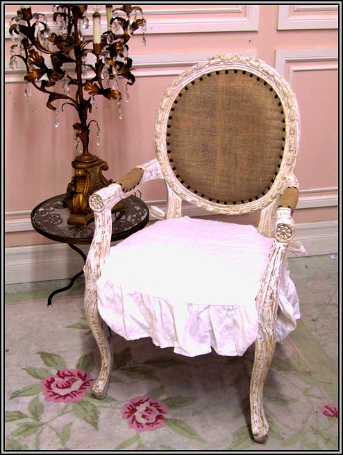 White shabby chic desk chair desk home design ideas 4rdbzvady284974 - Shabby chic dining room chair covers ...