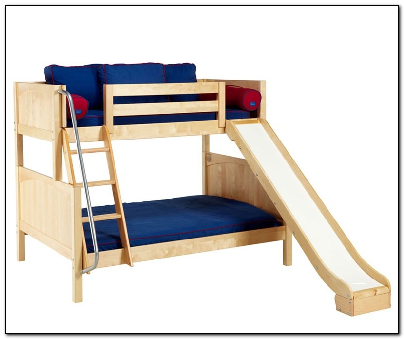 Twin Over Full Bunk Bed With Slide Beds Home Design