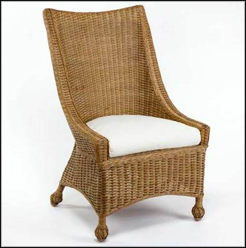 Wicker Dining Chairs With Casters Chairs Home Design