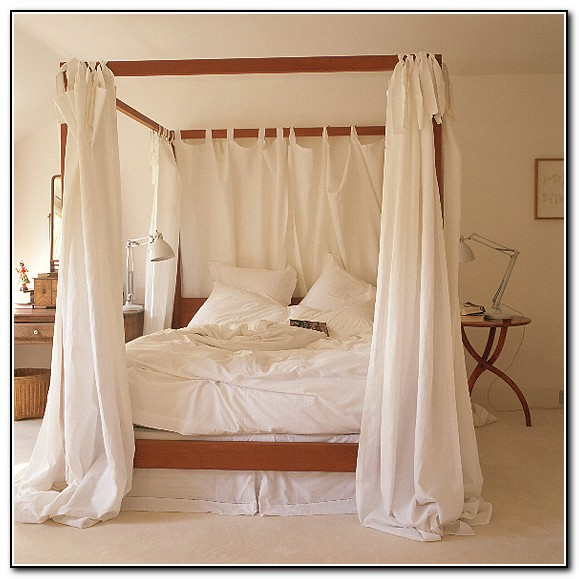 4 Poster Bed Canopy Curtains