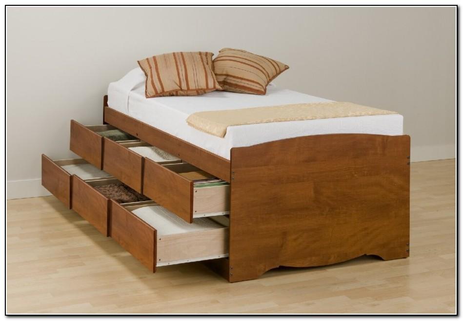 bed with storage under