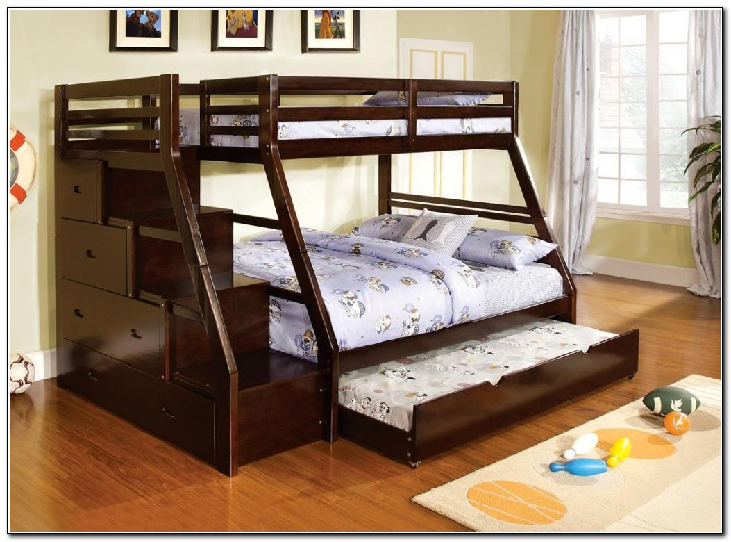 Bunk Beds Twin Over Full With Trundle Beds Home Design