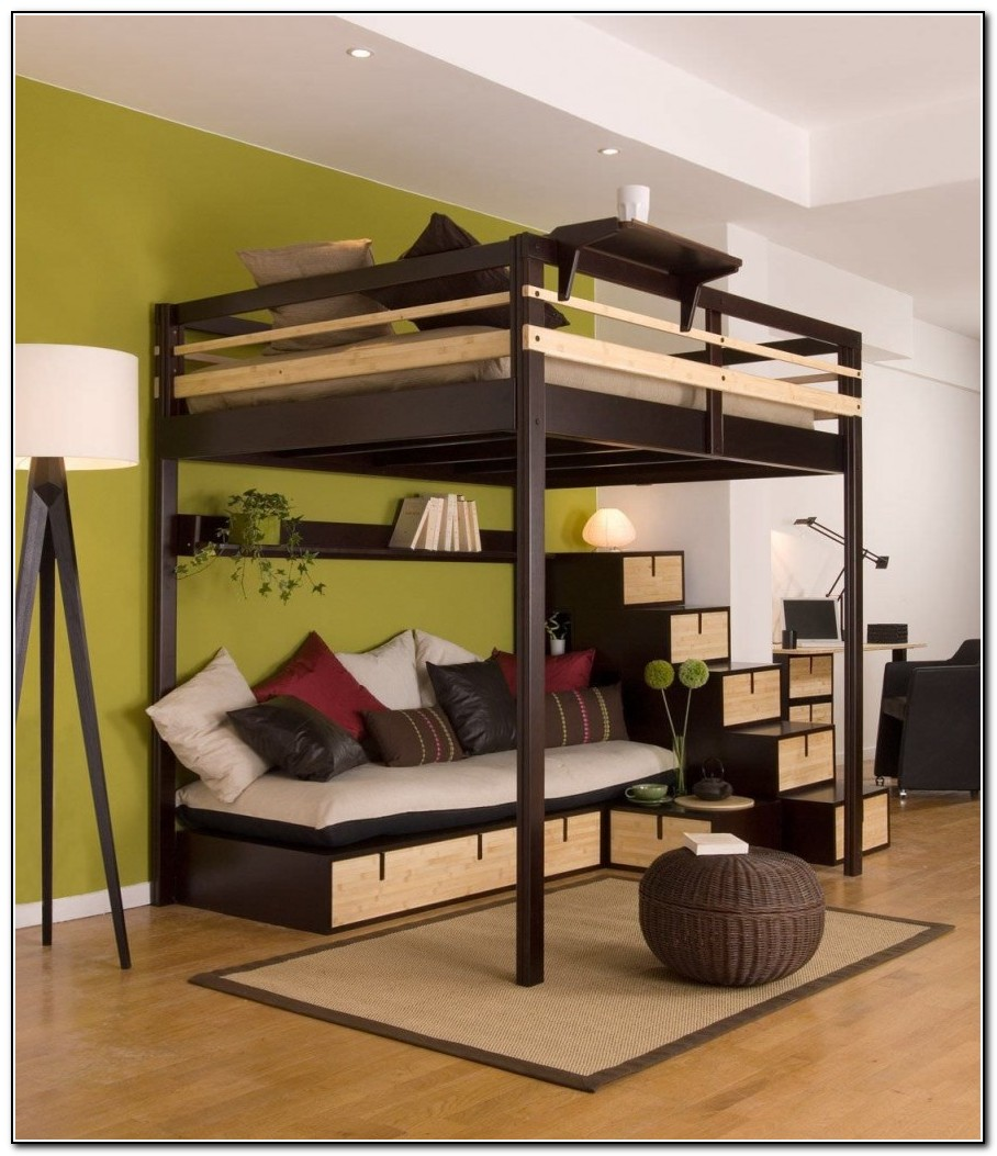 Full Loft Bed With Desk Ikea Beds Home Design Ideas