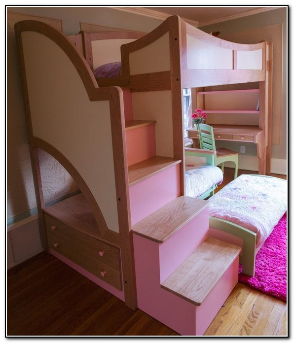 Girls Bed With Slide