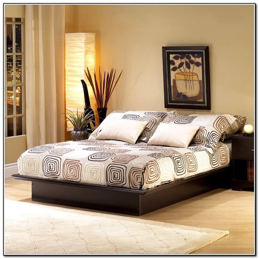 Queen platform bed frame cheap beds home design ideas for Cheap platform bed frame