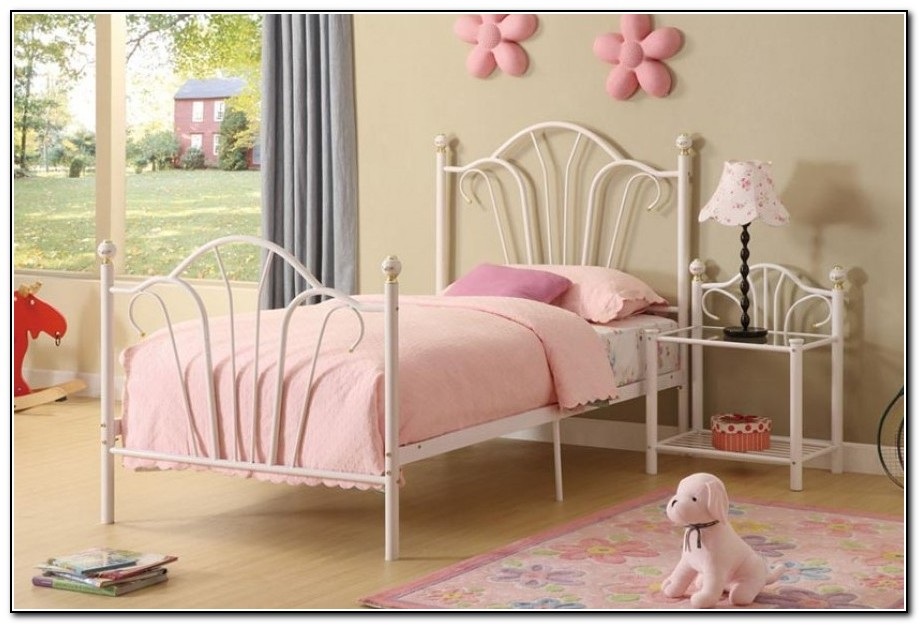 Twin bed frames for girls download page home design for Girls twin bed frame