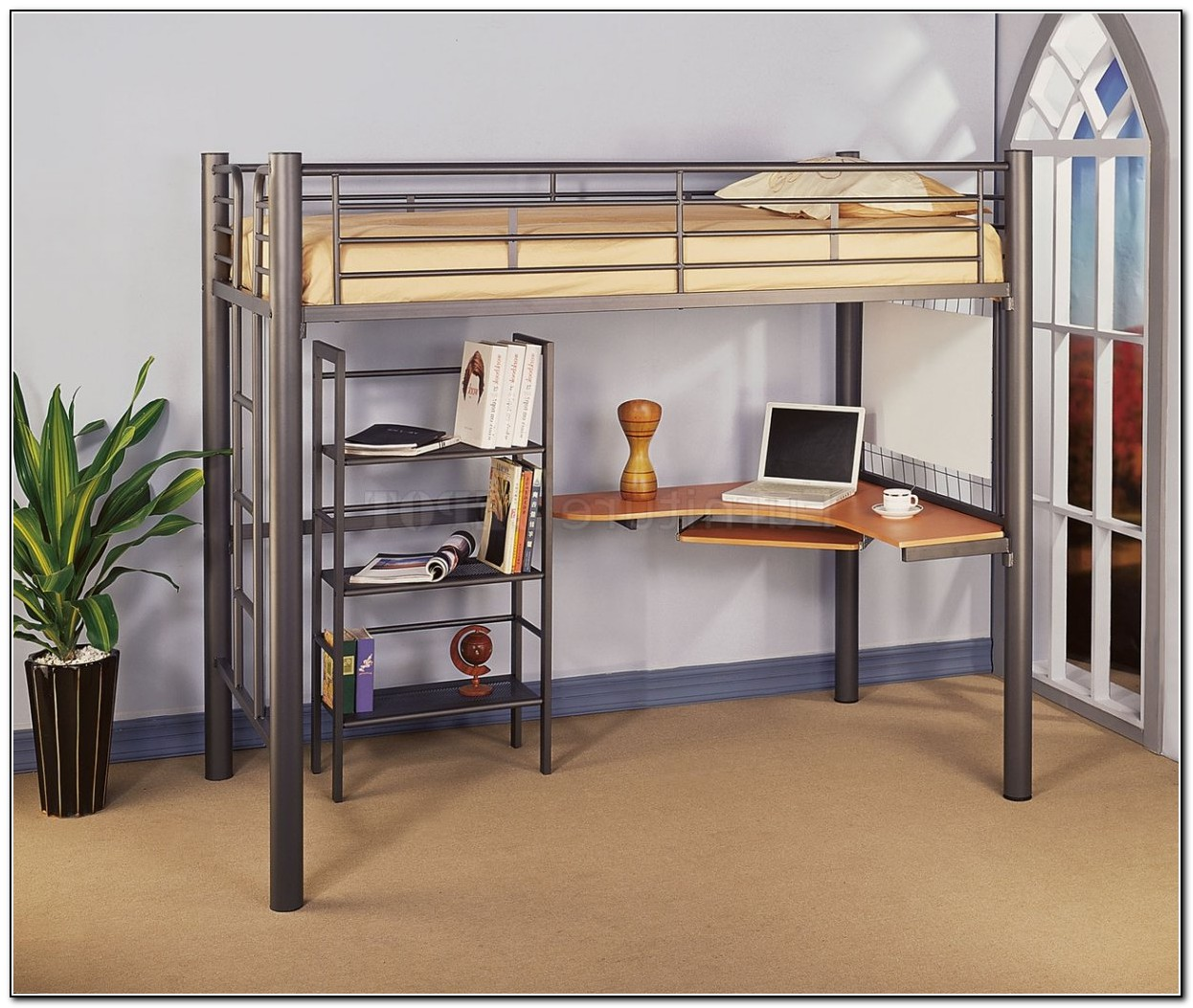 Twin Loft Bed With Desk Beds Home Design Ideas