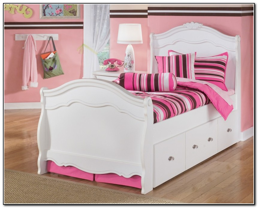 Twin Trundle Bed White