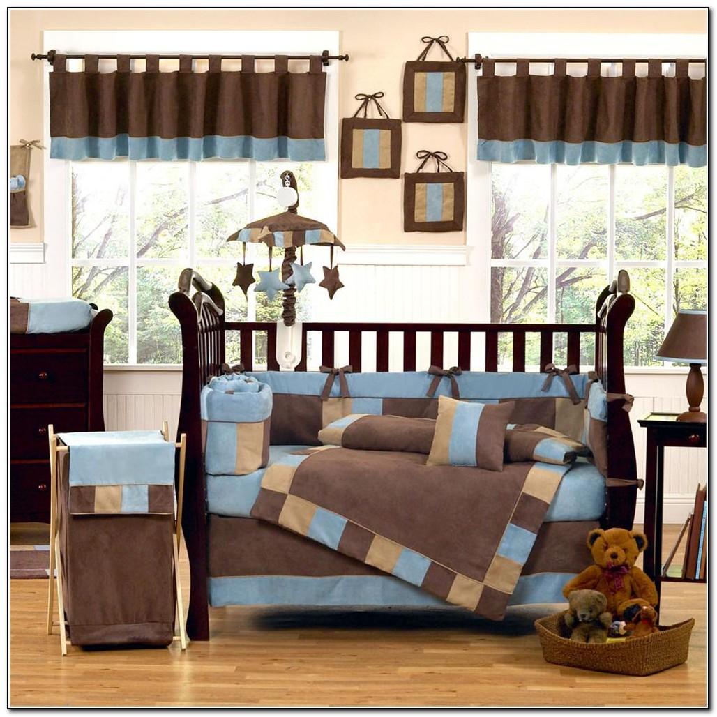 Baby blue and brown bedding beds home design ideas for Baby blue and brown bedroom ideas