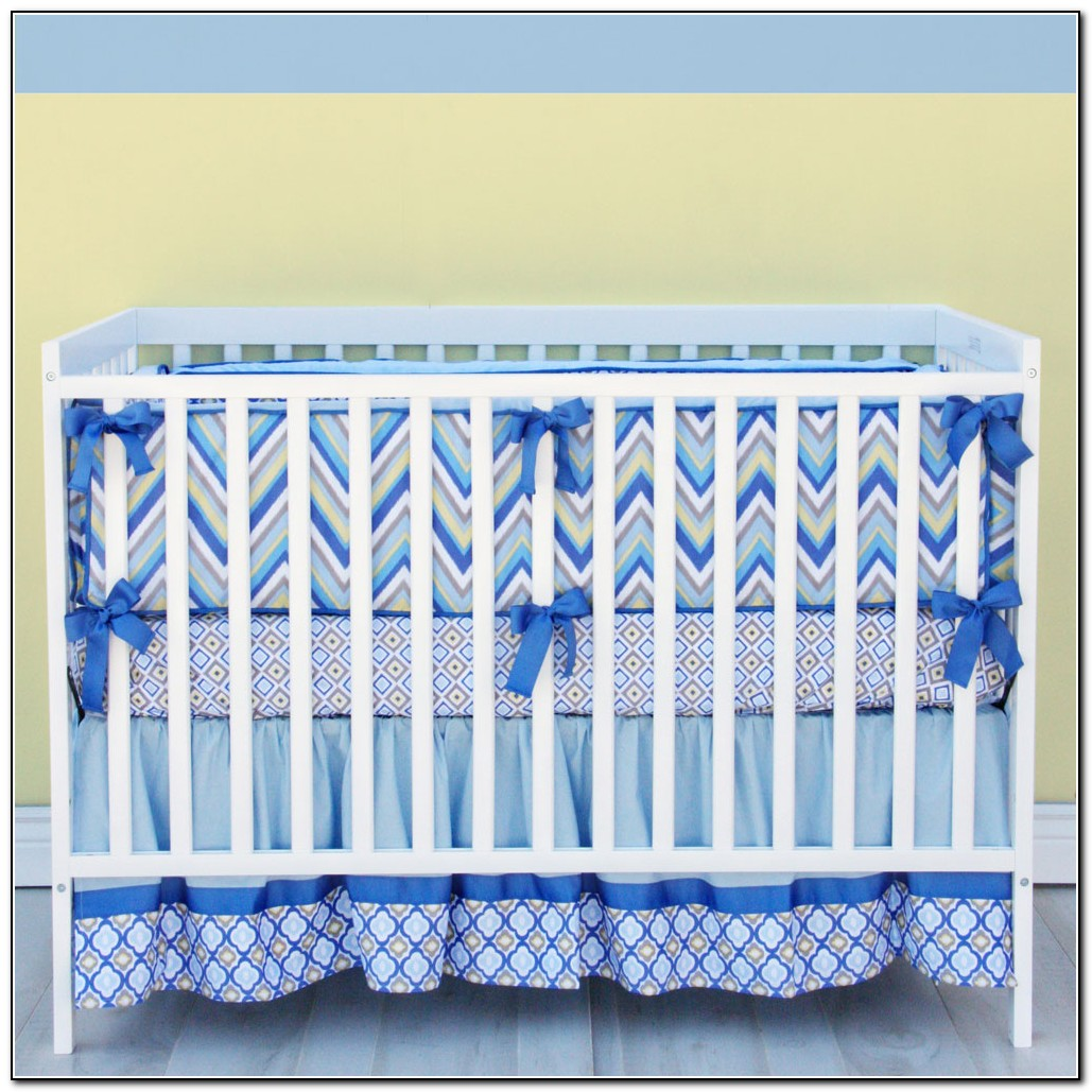 Baby Boy Chevron Bedding Sets