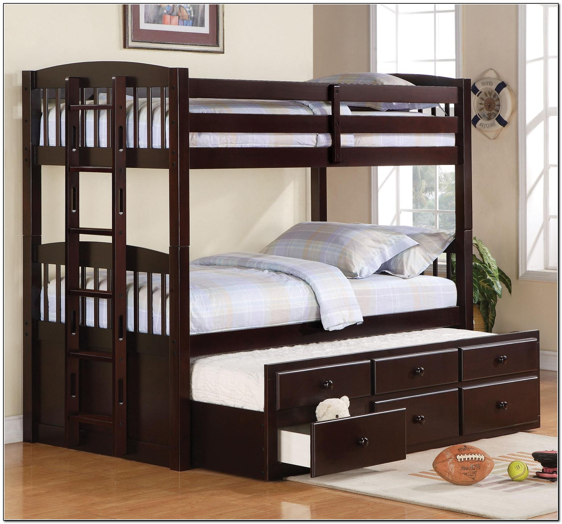 Bunk Bed With Trundle And Storage