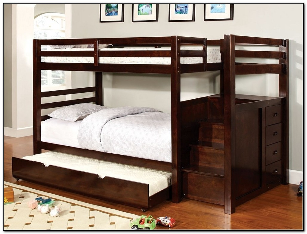 Bunk beds with trundle and storage beds home design for Beds with trundle