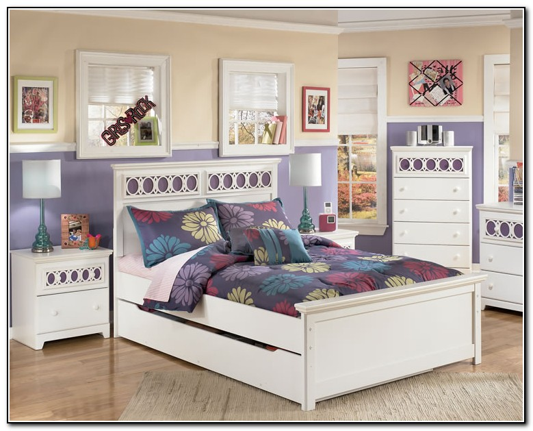 full size trundle bed white