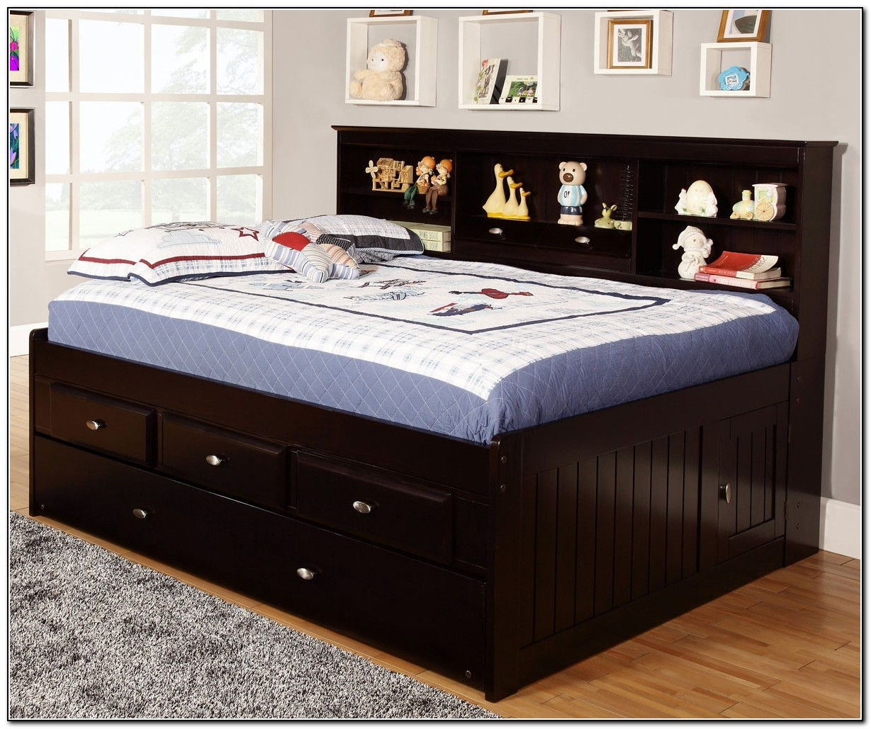 Full Size Trundle Bed With Drawers Beds Home Design