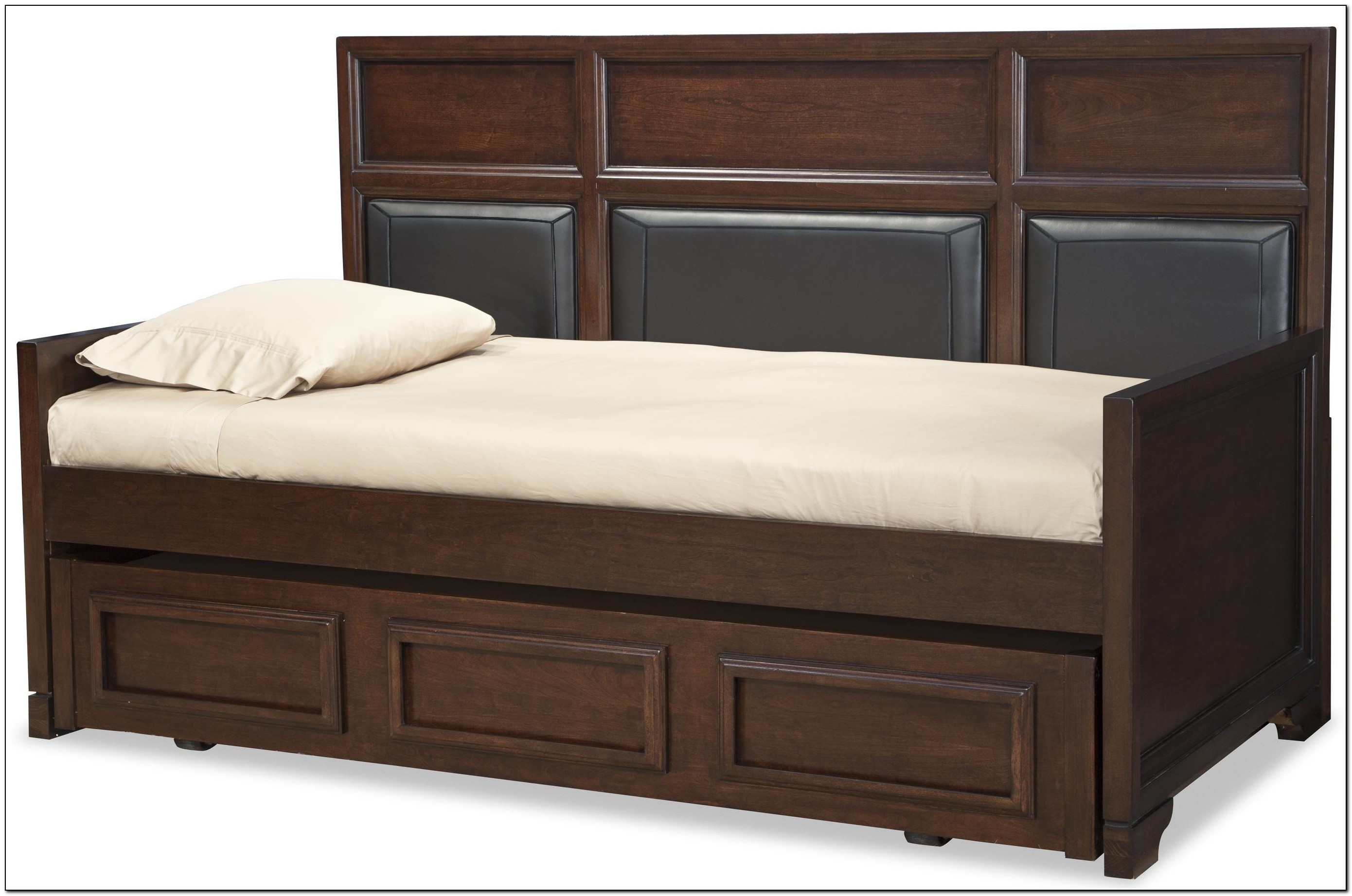 Full size trundle bed with storage beds home design for Beds with trundle