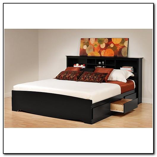 King Platform Bed Frame With Headboard