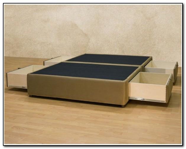 King Size Platform Bed Frame With Drawers