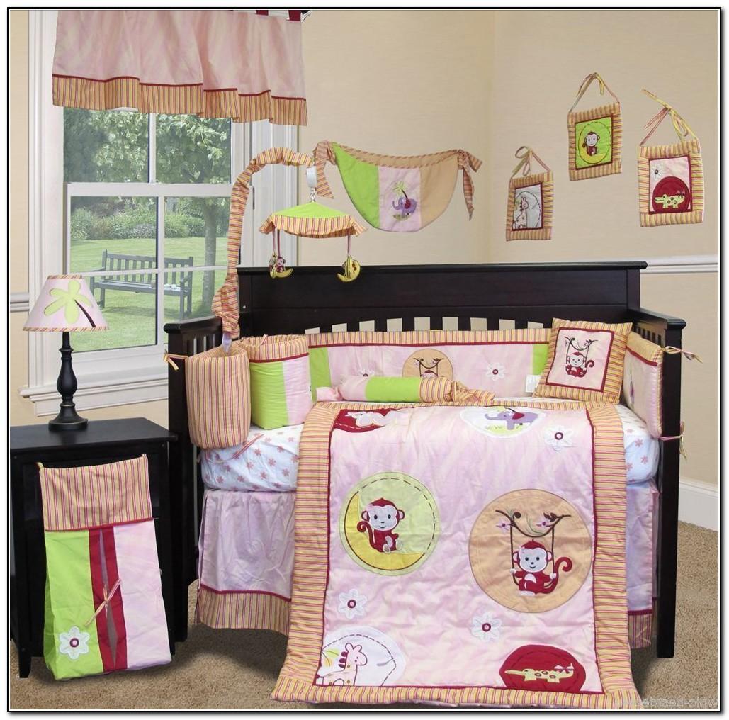 Monkey Girl Crib Bedding Sets