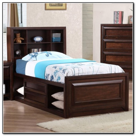 Oak Twin Captains Bed