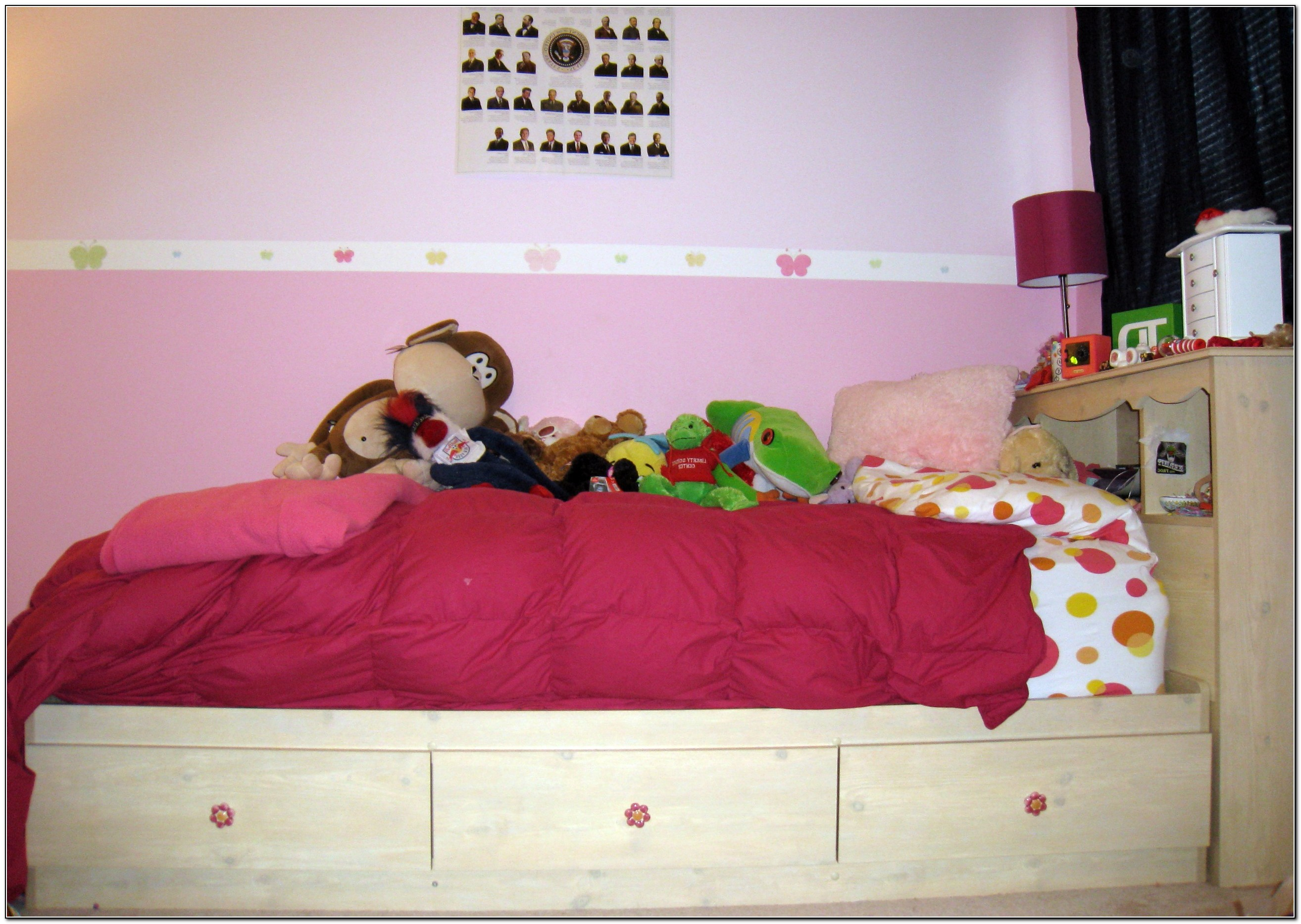 Twin Bed With Drawers Underneath