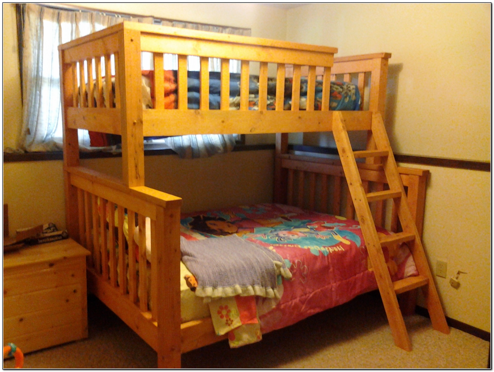 Bunk Bed Plans Twin Over Queen Diy Woodworking