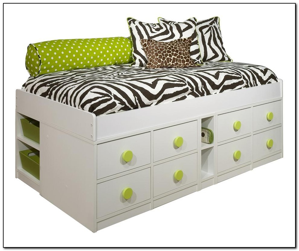 Twin Size Bed Frame With Drawers Beds Home Design