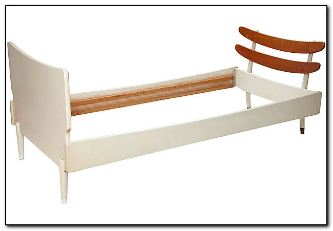 White Bed Frame Twin