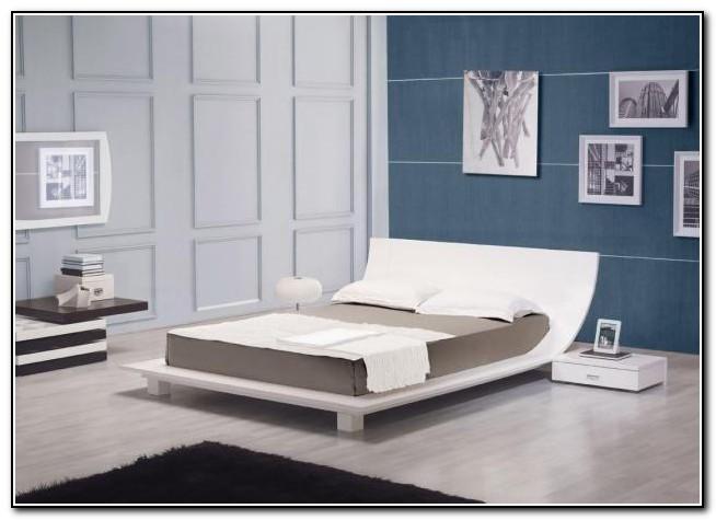 White King Platform Bed Frame