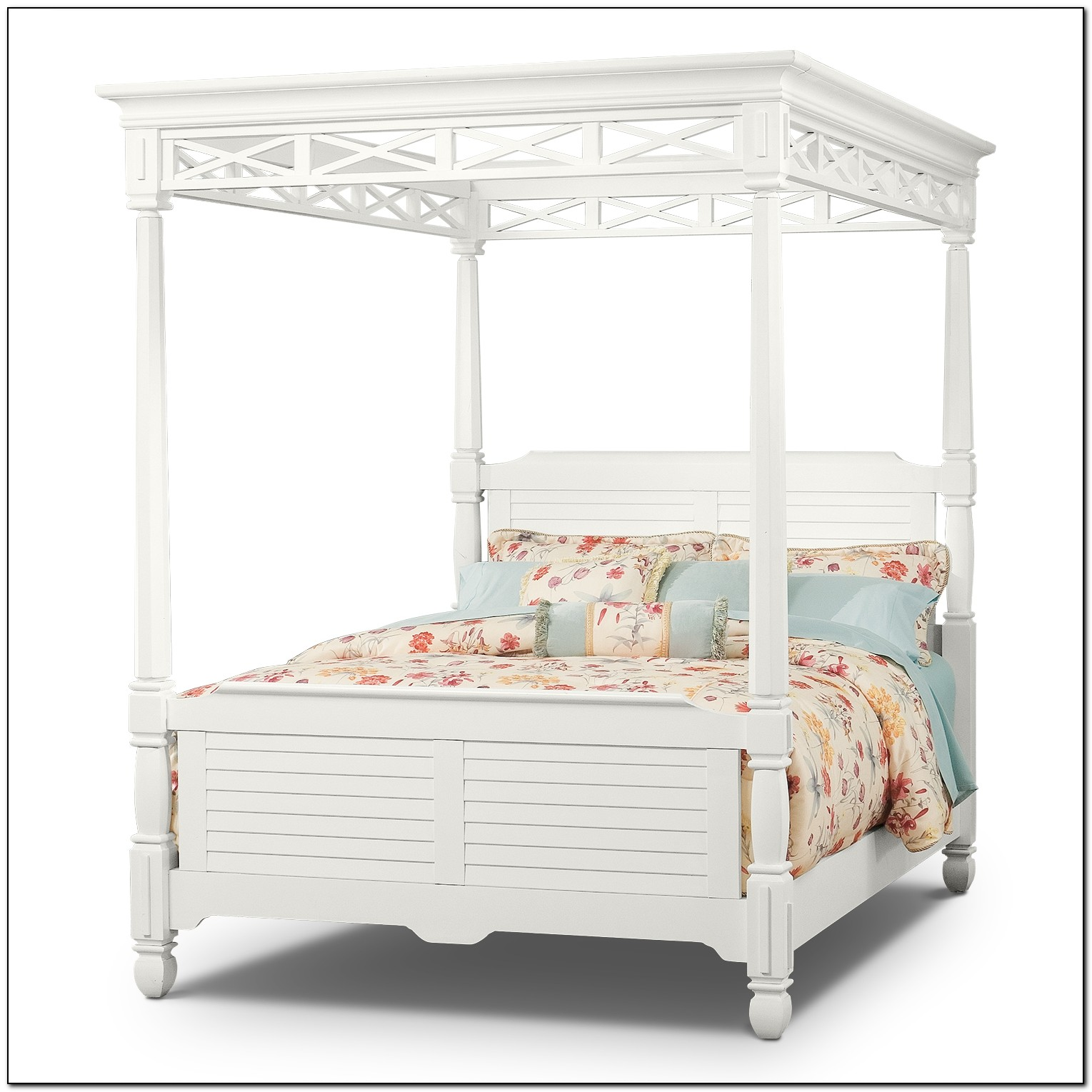 White Queen Canopy Bed Beds Home Design Ideas