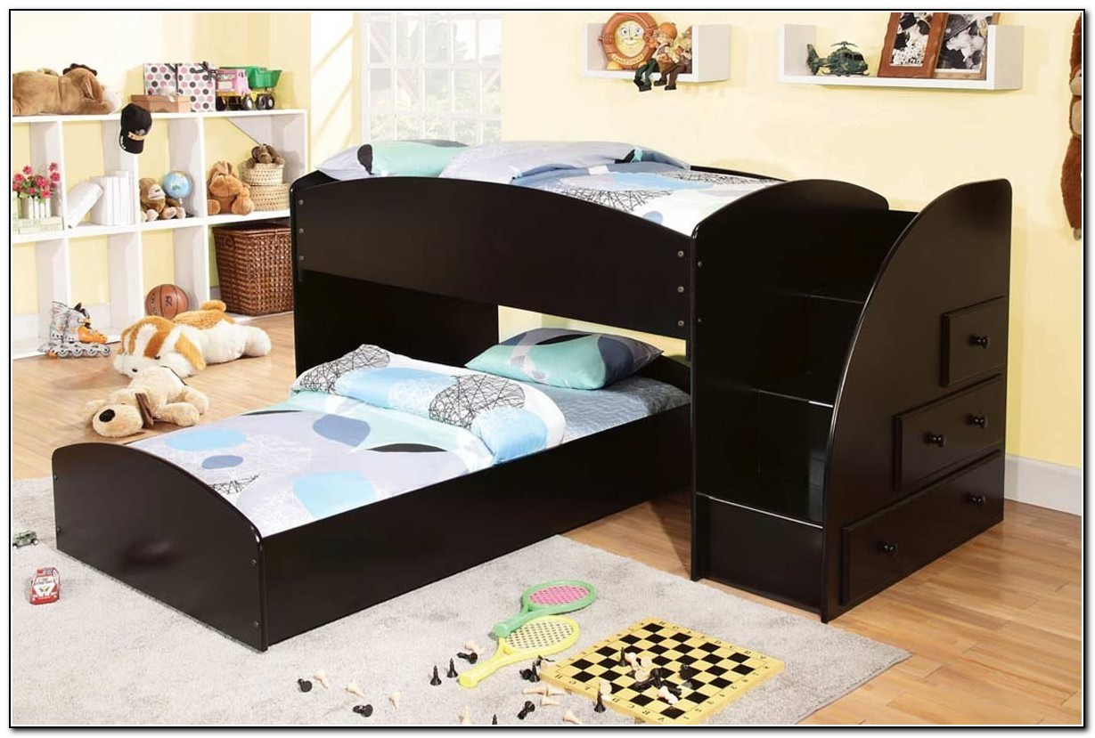 Wooden Bunk Beds With Stairs And Drawers