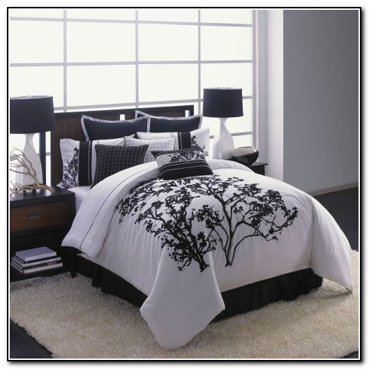 Black Gray And White Bedding