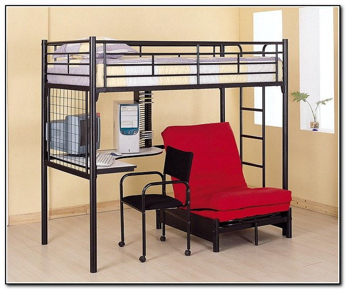 Bunk Bed With Futon And Desk