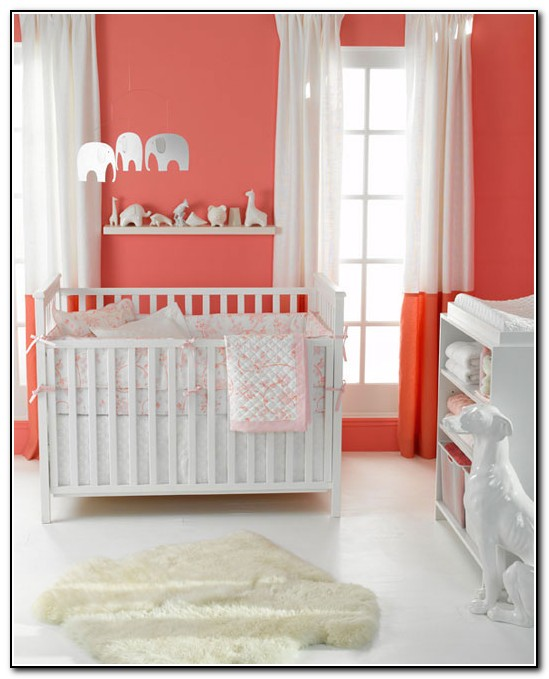 Coral Baby Nursery Bedding
