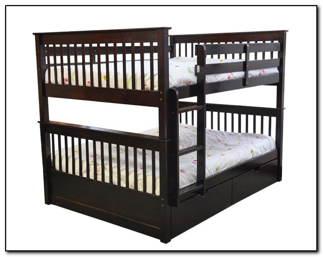 Double bunk beds top and bottom beds home design ideas for Bunk bed with double on bottom