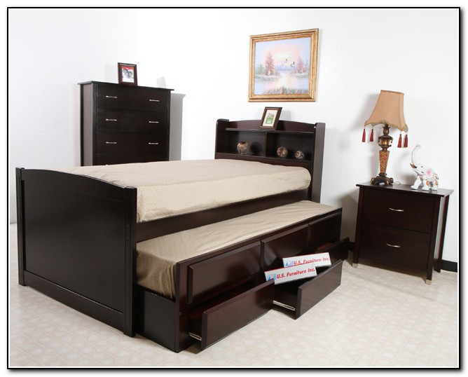 Full Bed With Trundle And Drawers