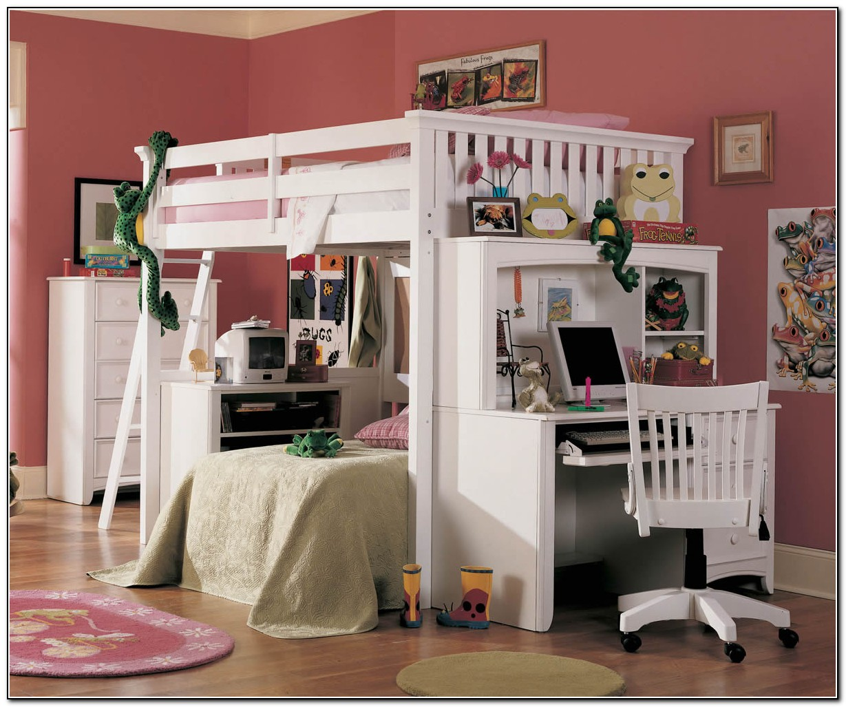 Full Loft Bed With Desk Canada