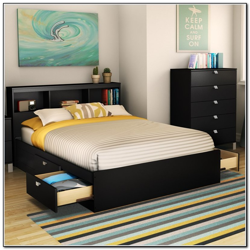 Full Size Storage Bed Frame