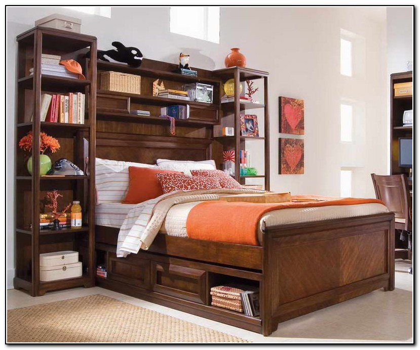 Full Size Storage Bed With Headboard