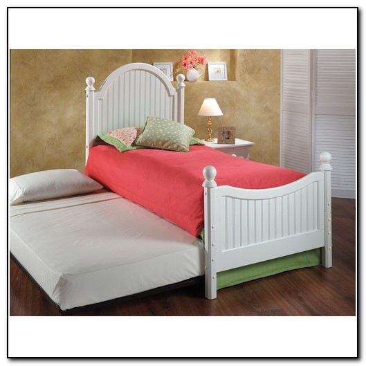 Girls White Trundle Bed