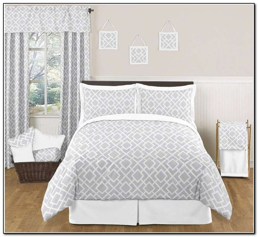 Gray And White Bedding Sets